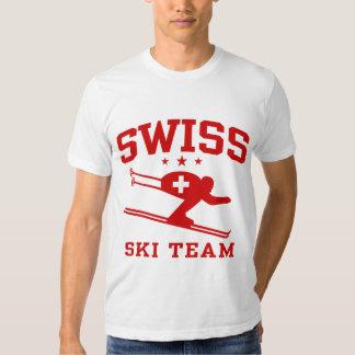 Equipo suizo del esquí polera