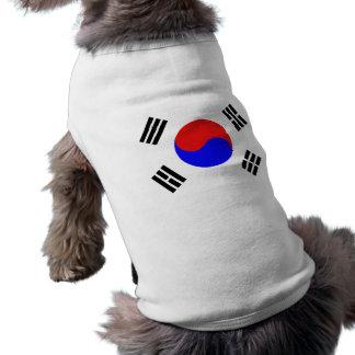 Equipo surcoreano del perro camisetas de mascota