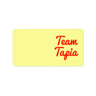 Equipo Tapia Etiqueta De Dirección