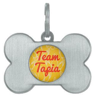 Equipo Tapia Placa De Nombre De Mascota