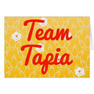 Equipo Tapia Tarjetas