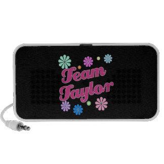 Equipo Taylor con acentos de la flor iPod Altavoz