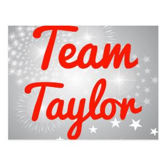Equipo Taylor Tarjeta Postal