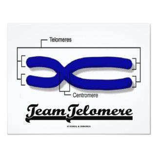 """Equipo Telomere (humor de la biología) Invitación 4.25"""" X 5.5"""""""