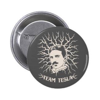 Equipo Tesla Pin Redondo De 2 Pulgadas
