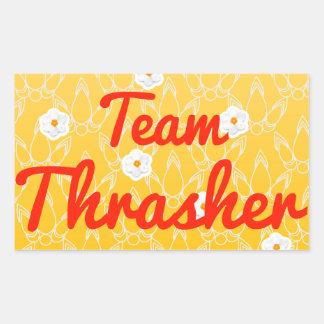 Equipo Thrasher Pegatina Rectangular