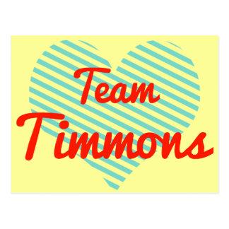 Equipo Timmons Tarjeta Postal