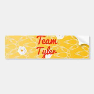 Equipo Tyler Pegatina De Parachoque