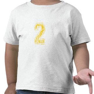 Equipo universitario amarillo 2 camiseta