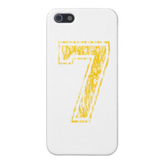 Equipo universitario amarillo #7 iPhone 5 funda