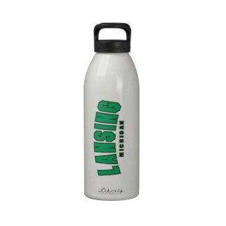 Equipo universitario de Lansing Botella De Agua Reutilizable