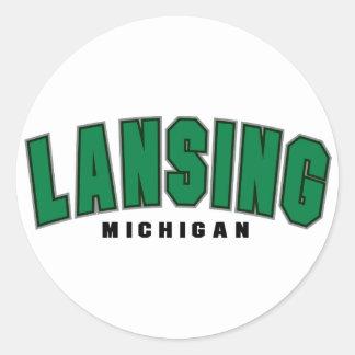 Equipo universitario de Lansing Pegatinas Redondas