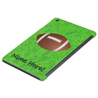 Equipo universitario del joven del campo de fútbol fundas de iPad mini