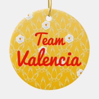Equipo Valencia Adorno Navideño Redondo De Cerámica