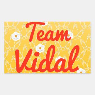 Equipo Vidal Pegatina Rectangular