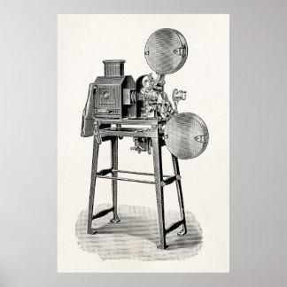 Equipo viejo de la cinematografía de la cámara de poster