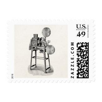 Equipo viejo de la cinematografía de la cámara de  sellos