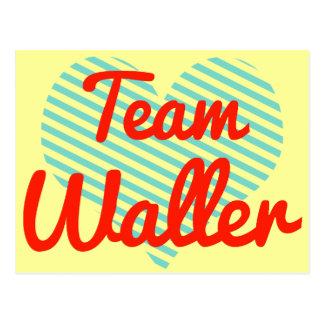 Equipo Waller Tarjetas Postales