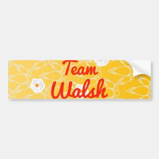 Equipo Walsh Etiqueta De Parachoque
