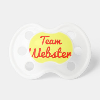 Equipo Webster Chupetes