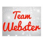 Equipo Webster Tarjetas Postales