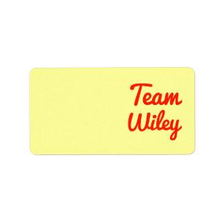 Equipo Wiley Etiqueta De Dirección