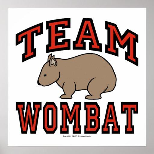 Equipo Wombat III Posters