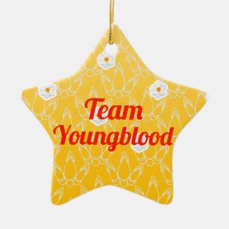 Equipo Youngblood Adorno De Cerámica En Forma De Estrella