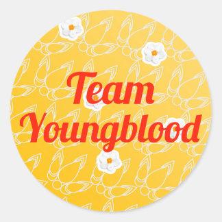 Equipo Youngblood Pegatina Redonda