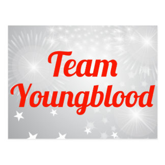 Equipo Youngblood Tarjeta Postal