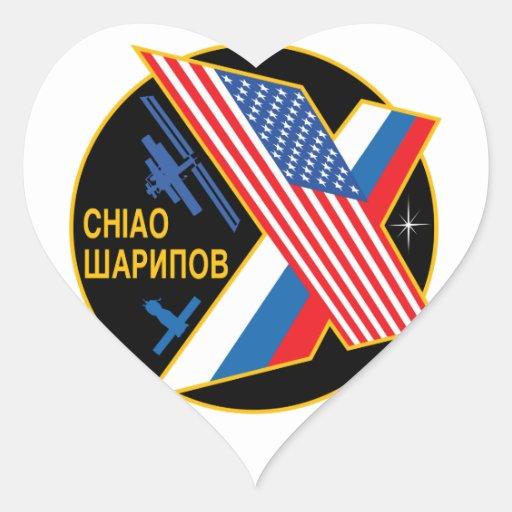 Equipos de la expedición al ISS:  Expedición 10 Pegatina En Forma De Corazón