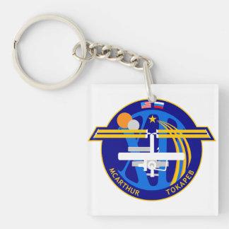 Equipos de la expedición al ISS:  Expedición 12 Llavero Cuadrado Acrílico A Doble Cara