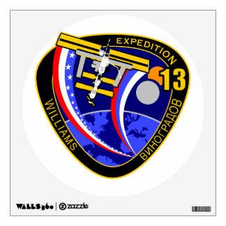 Equipos de la expedición al ISS:  Expedición 13 Vinilo Decorativo
