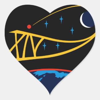 Equipos de la expedición al ISS:  Expedición 14 Pegatina En Forma De Corazón