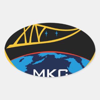 Equipos de la expedición al ISS:  Expedición 14 Pegatina Ovalada
