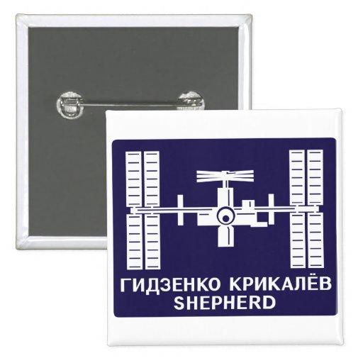 Equipos de la expedición al ISS:  Expedición 1 Pin Cuadrado