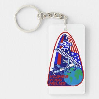 Equipos de la expedición al ISS:  Expedición 2 Llavero Rectangular Acrílico A Doble Cara