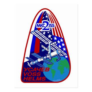 Equipos de la expedición al ISS:  Expedición 2 Postales