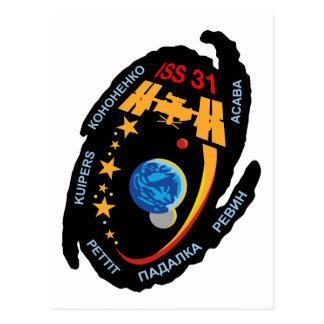 Equipos de la expedición al ISS:  Expedición 31 Postales