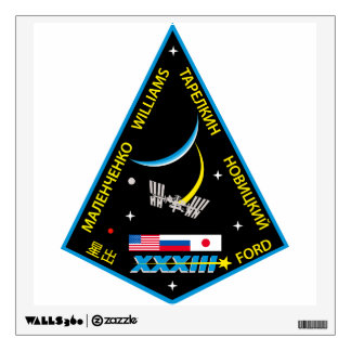 Equipos de la expedición al ISS:  Expedición 33 Vinilo Adhesivo