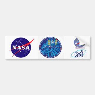 Equipos de la expedición al ISS:   Expedición 37 Pegatina Para Auto