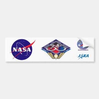 Equipos de la expedición al ISS:  Expedición 38 Pegatina Para Auto