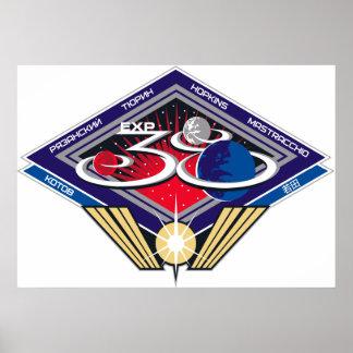 Equipos de la expedición al ISS:  Expedición 38 Póster
