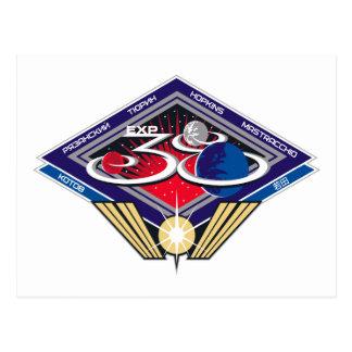 Equipos de la expedición al ISS:  Expedición 38 Postales
