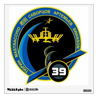 Equipos de la expedición al ISS:   Expedición 39 Vinilo Adhesivo