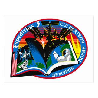 Equipos de la expedición al ISS:  Expedición 3 Postal