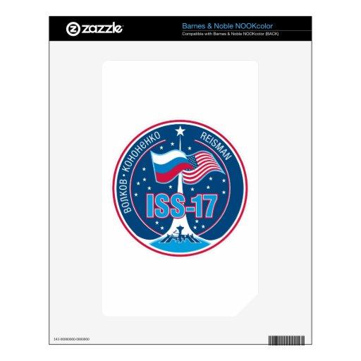 Equipos del ISS:  Expedición 17 Calcomanía Para NOOK Color