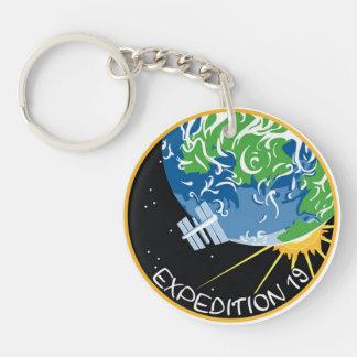 Equipos del ISS:  Expedición 19 Llavero Redondo Acrílico A Doble Cara