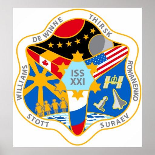 Equipos del ISS:  Expedición 21 Poster