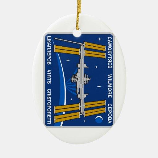 Equipos del ISS:  Expedición 42 Adorno Navideño Ovalado De Cerámica